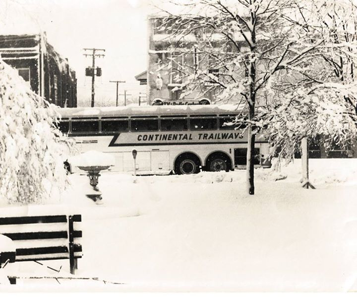 Bus coming into the Square 1970