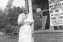 Mildred Jones handling the bus tickets